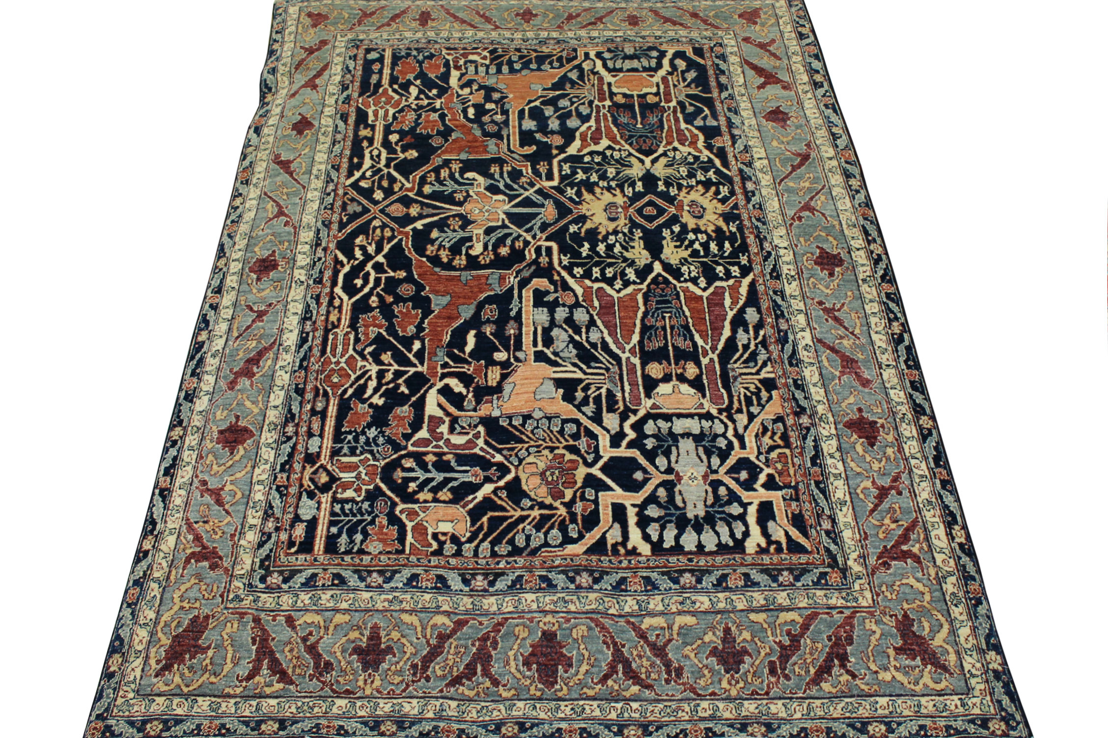 6x9 Antique Revival Hand Knotted Wool Area Rug - MR19982