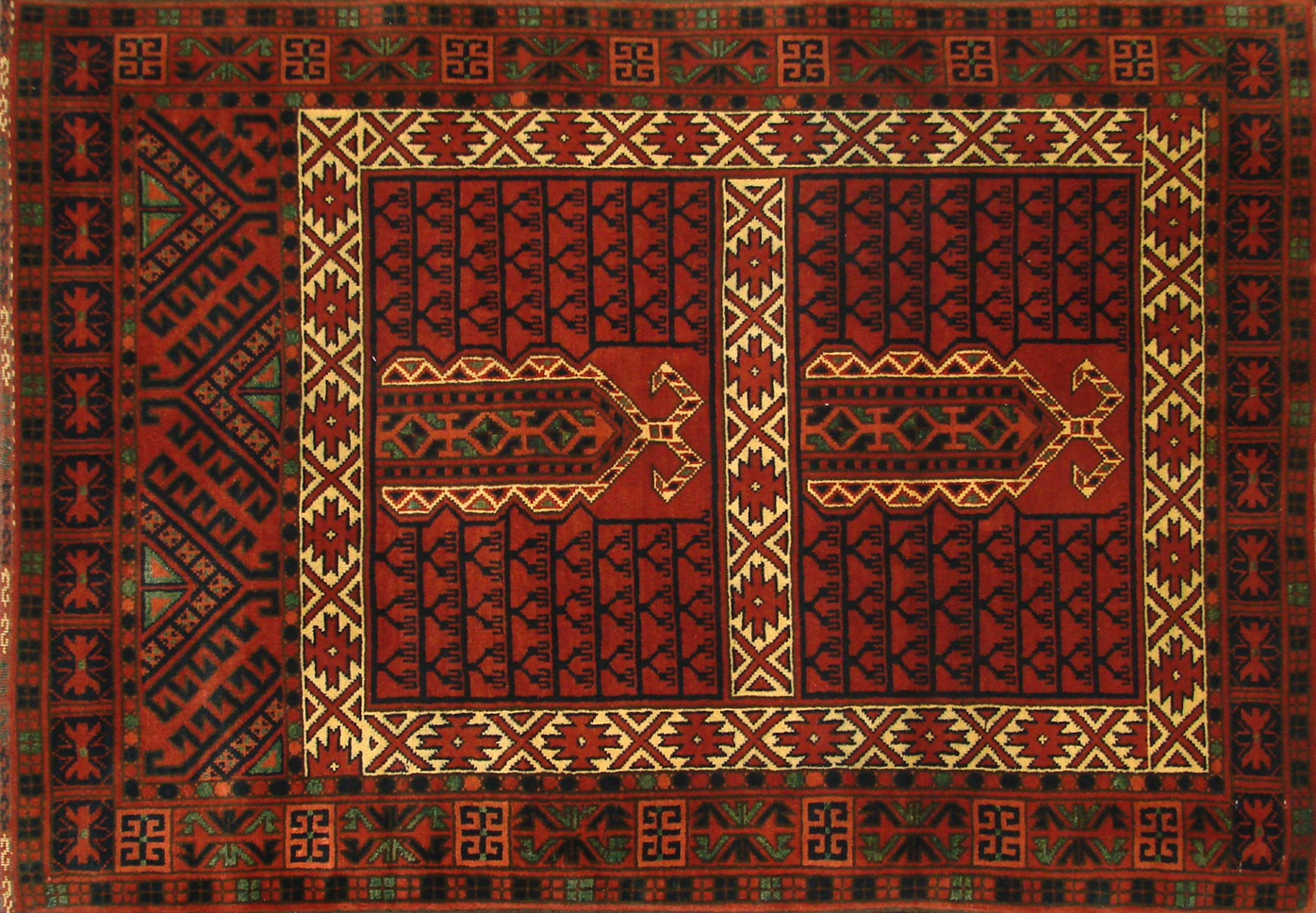 3x5 Kazak Hand Knotted Wool Area Rug - MR19988