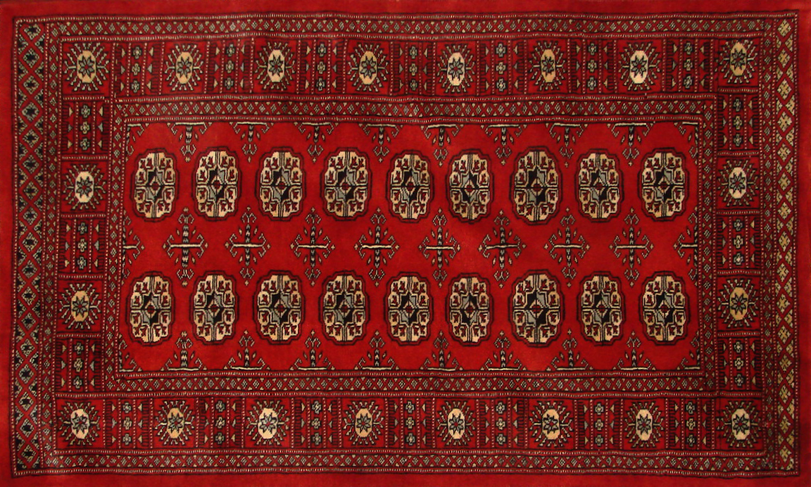 3x5 Bokhara Hand Knotted Wool Area Rug - MR19990