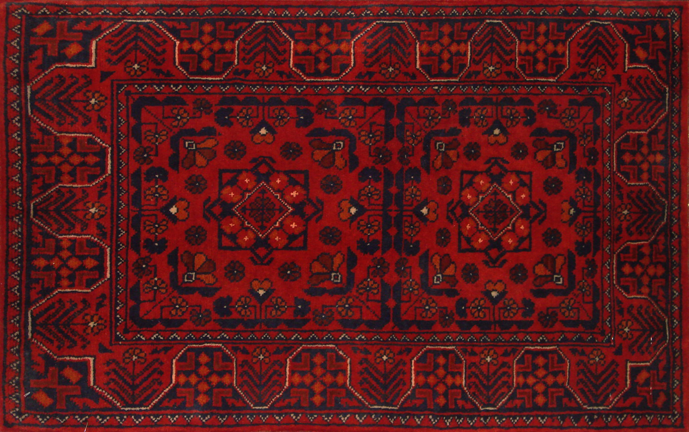 2X3 Kazak Hand Knotted Wool Area Rug - MR19992