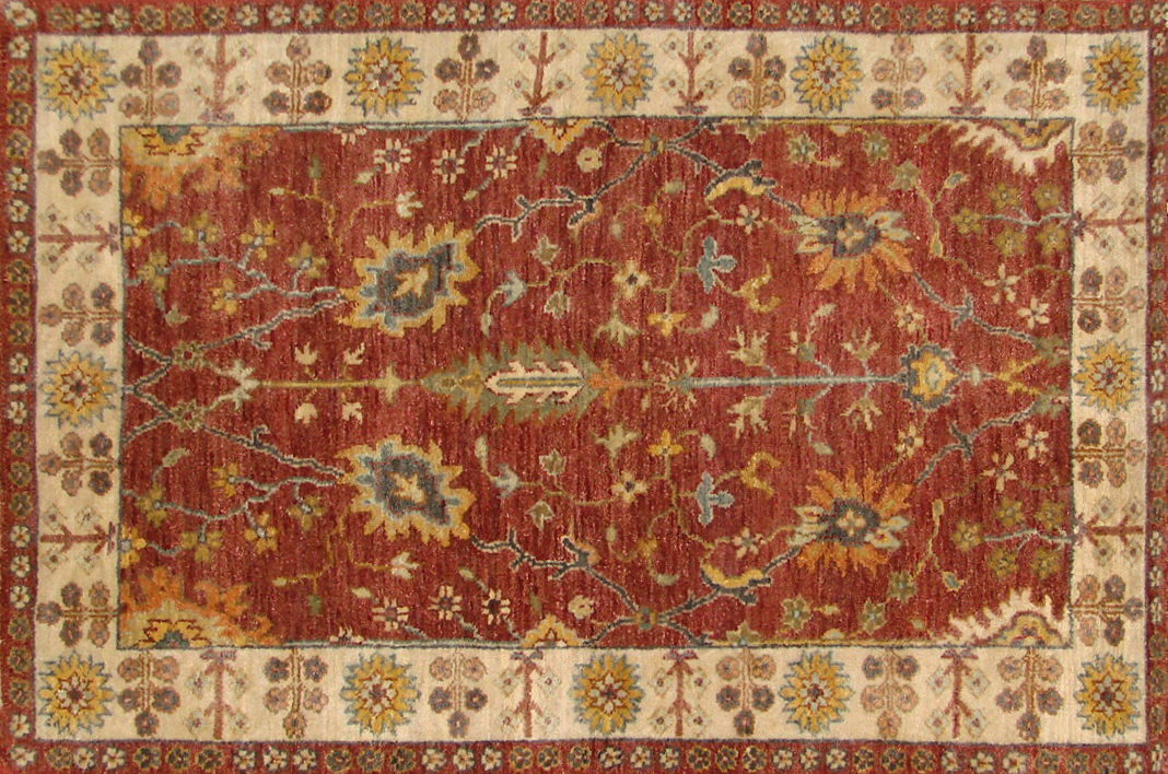 2X4 Traditional Hand Knotted Wool Area Rug - MR20093