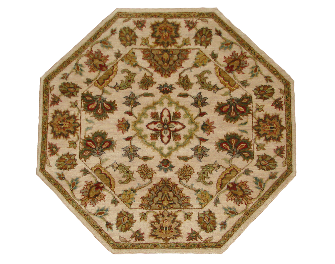 3 Round & Square Traditional Hand Knotted Wool Area Rug - MR20101