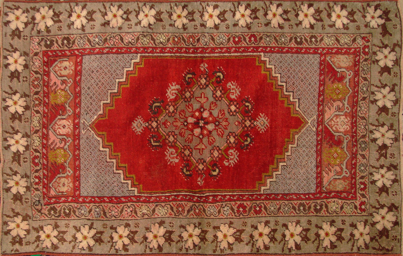 3x5 Oushak Hand Knotted Wool Area Rug - MR20143