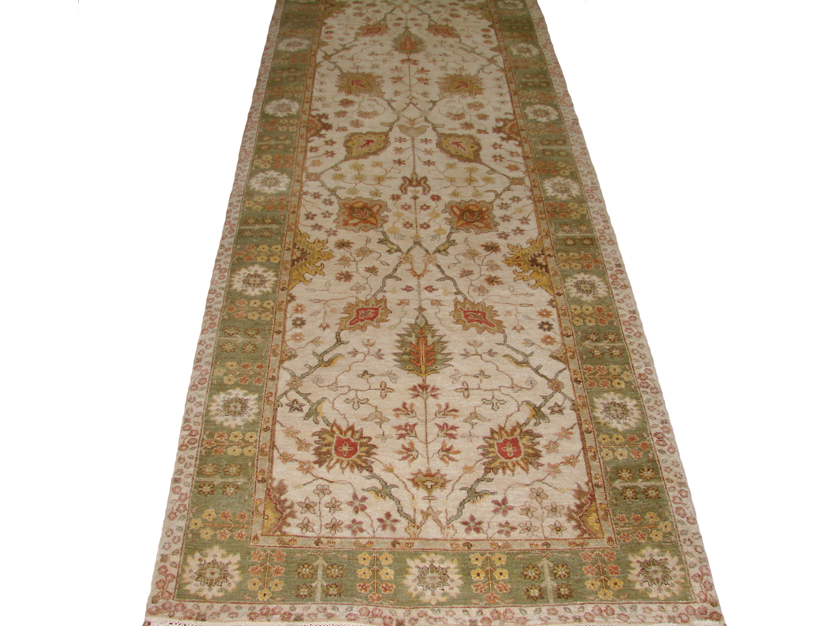 Wide Runner Traditional Hand Knotted Wool Area Rug - MR20304