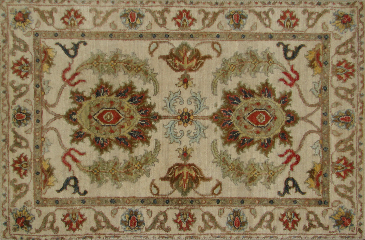 2X3 Traditional Hand Knotted Wool Area Rug - MR20309