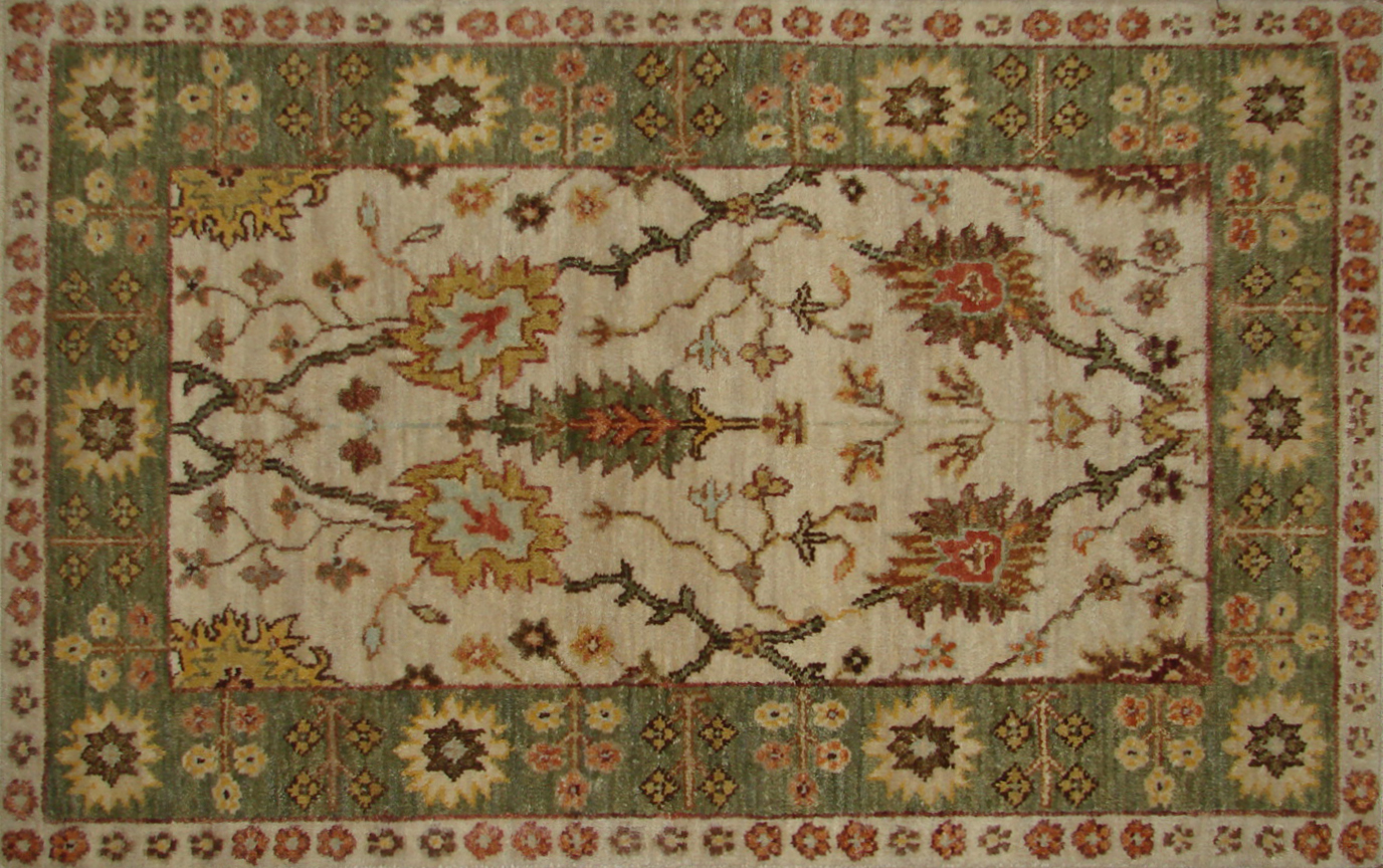 2X3 Traditional Hand Knotted Wool Area Rug - MR20310