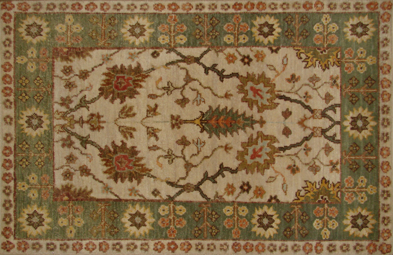 2X3 Traditional Hand Knotted Wool Area Rug - MR20312