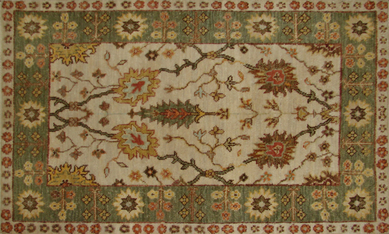 2X3 Traditional Hand Knotted Wool Area Rug - MR20313