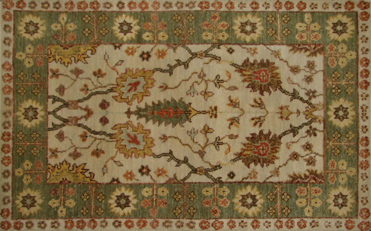 2X3 Traditional Hand Knotted Wool Area Rug - MR20314