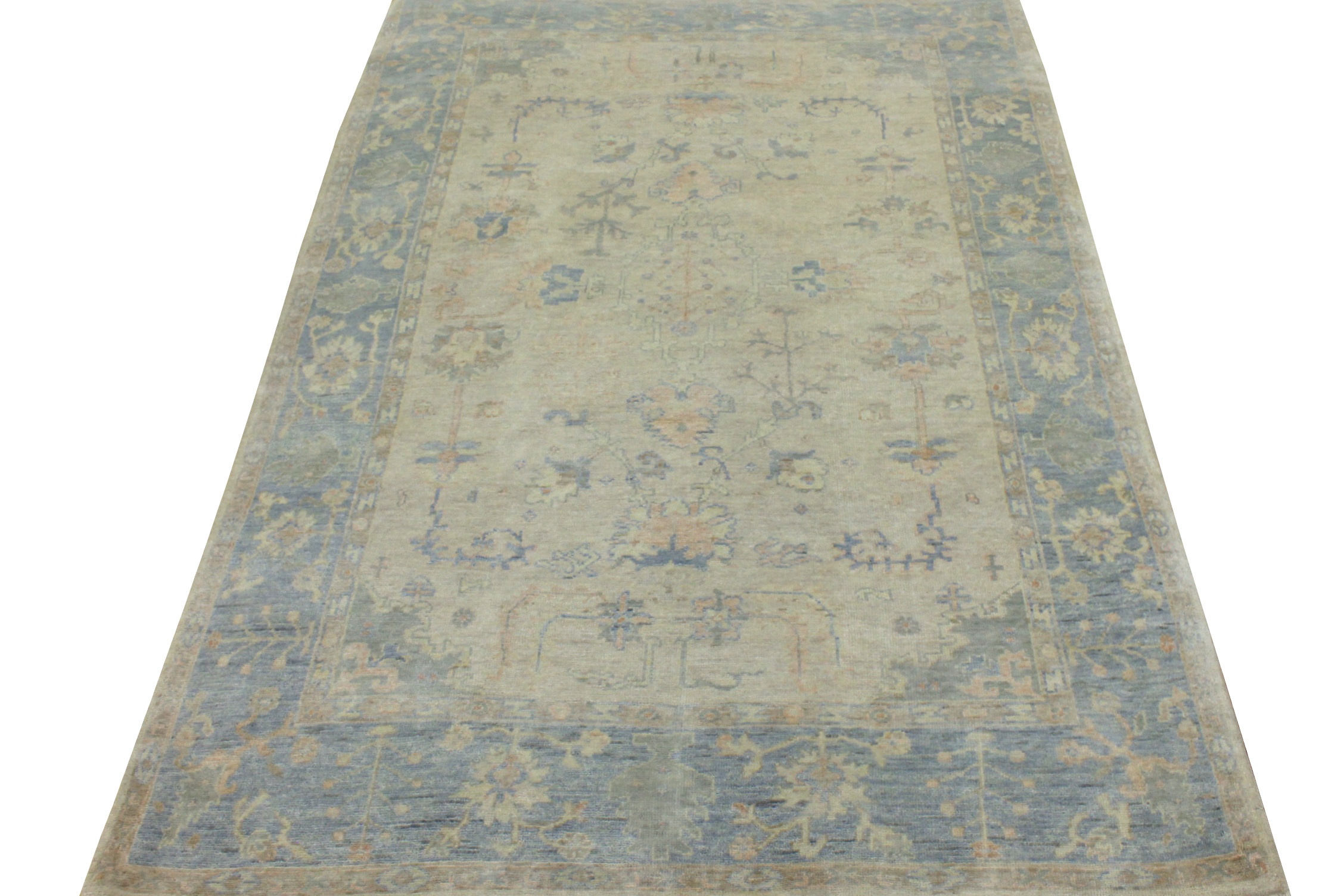 6x9 Oushak Hand Knotted Wool Area Rug - MR20369