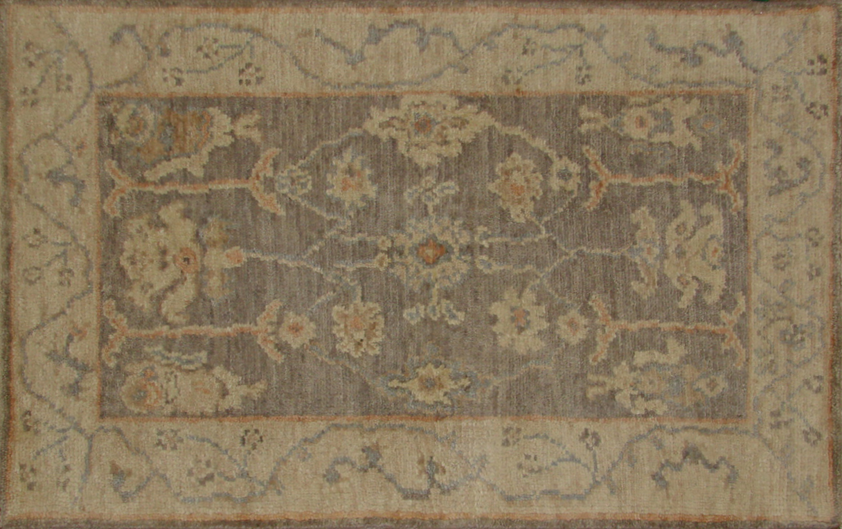 2X3 Oushak Hand Knotted Wool Area Rug - MR20391