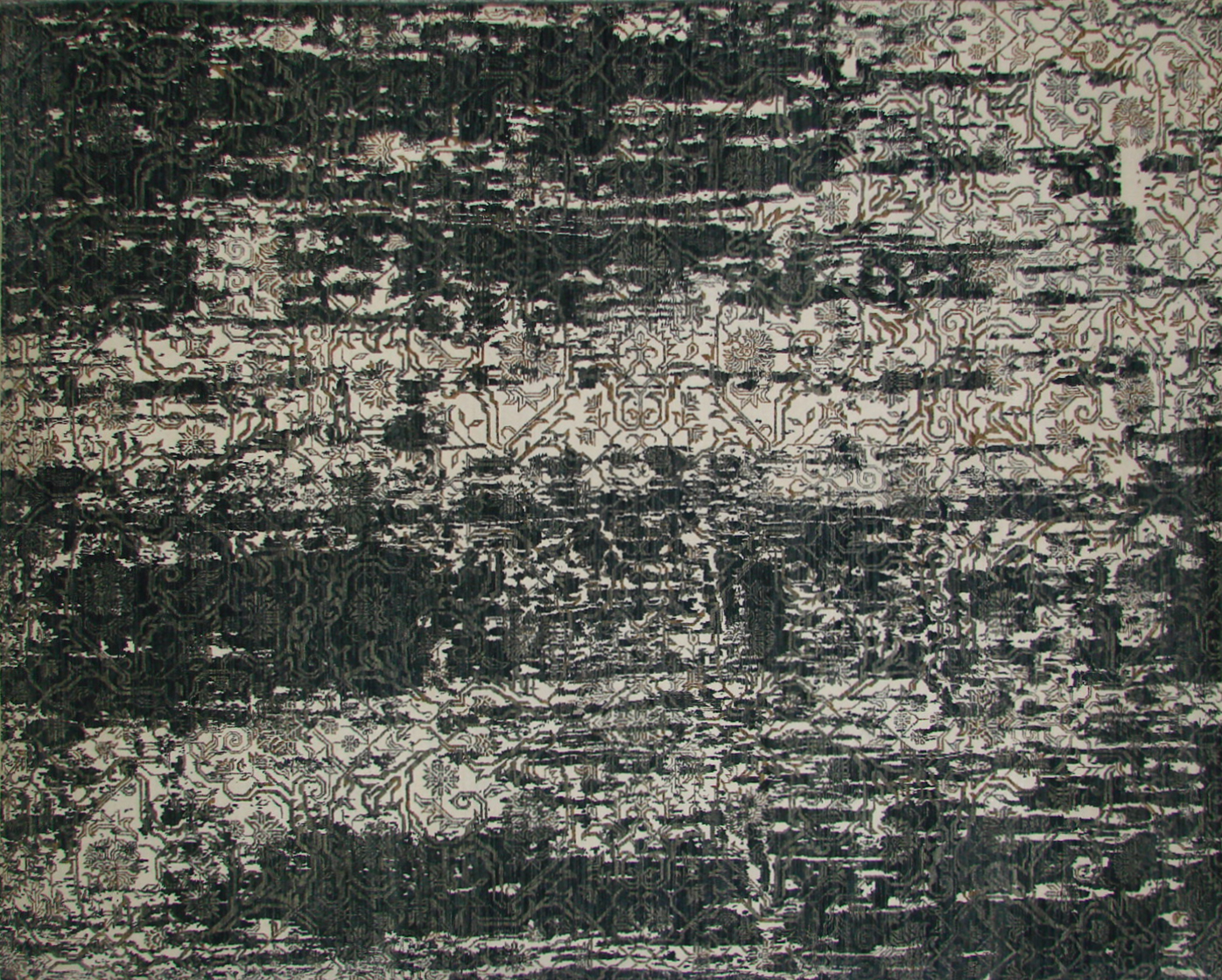 8x10 Contemporary Hand Knotted Wool Area Rug - MR20418