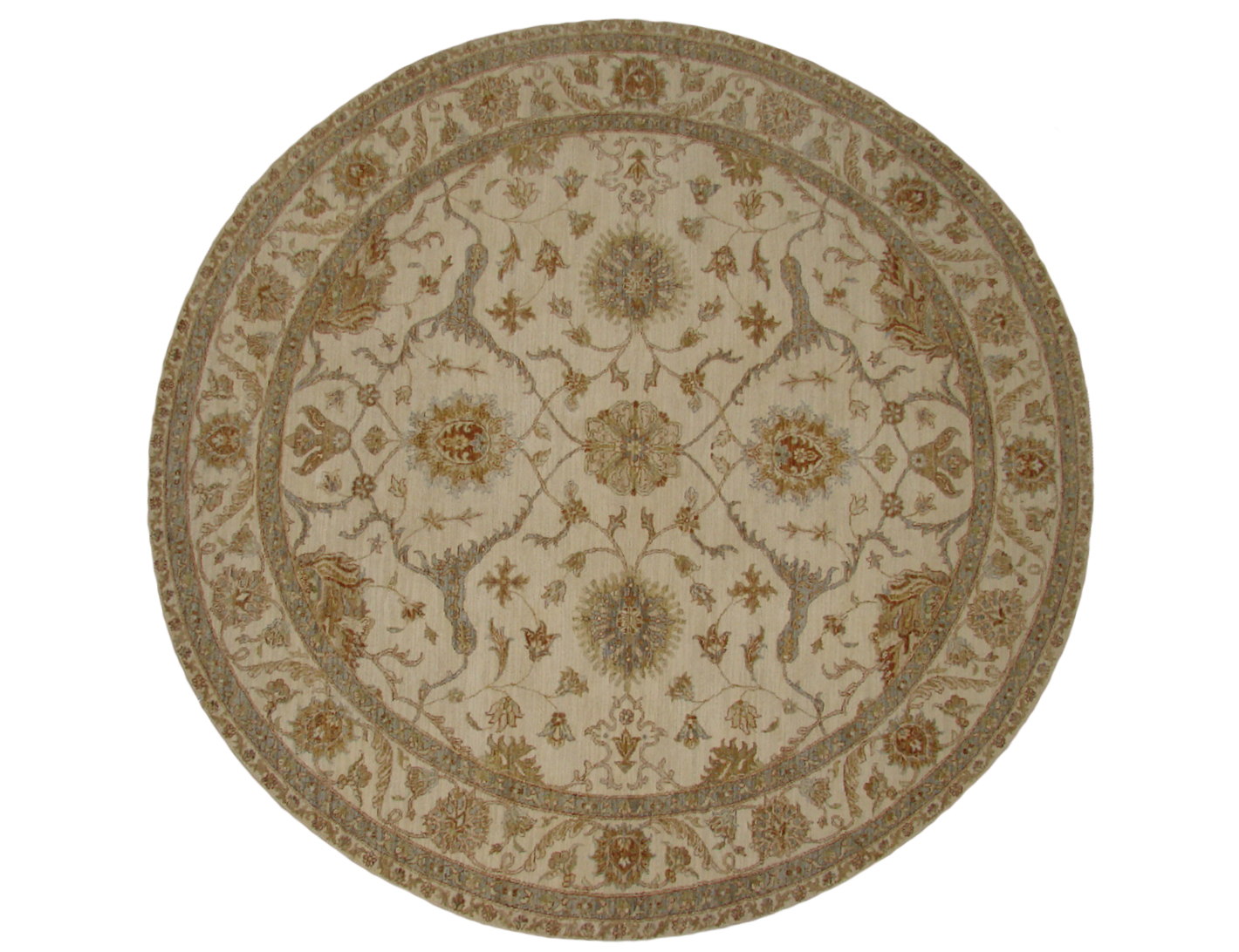 8 Round & Square Traditional Hand Knotted Wool Area Rug - MR20425