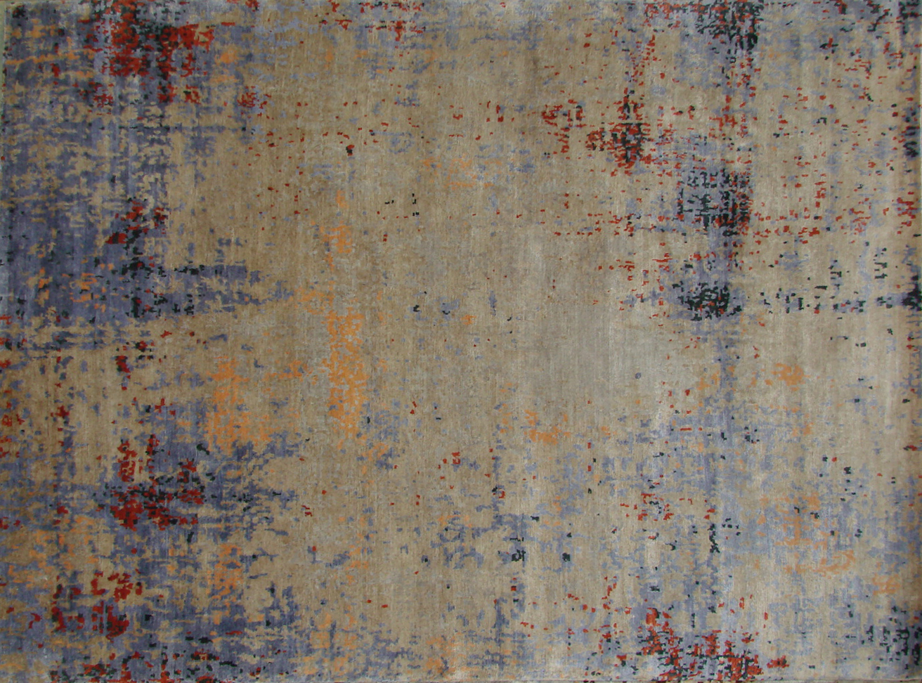 9x12 Contemporary Hand Knotted Wool Area Rug - MR20433