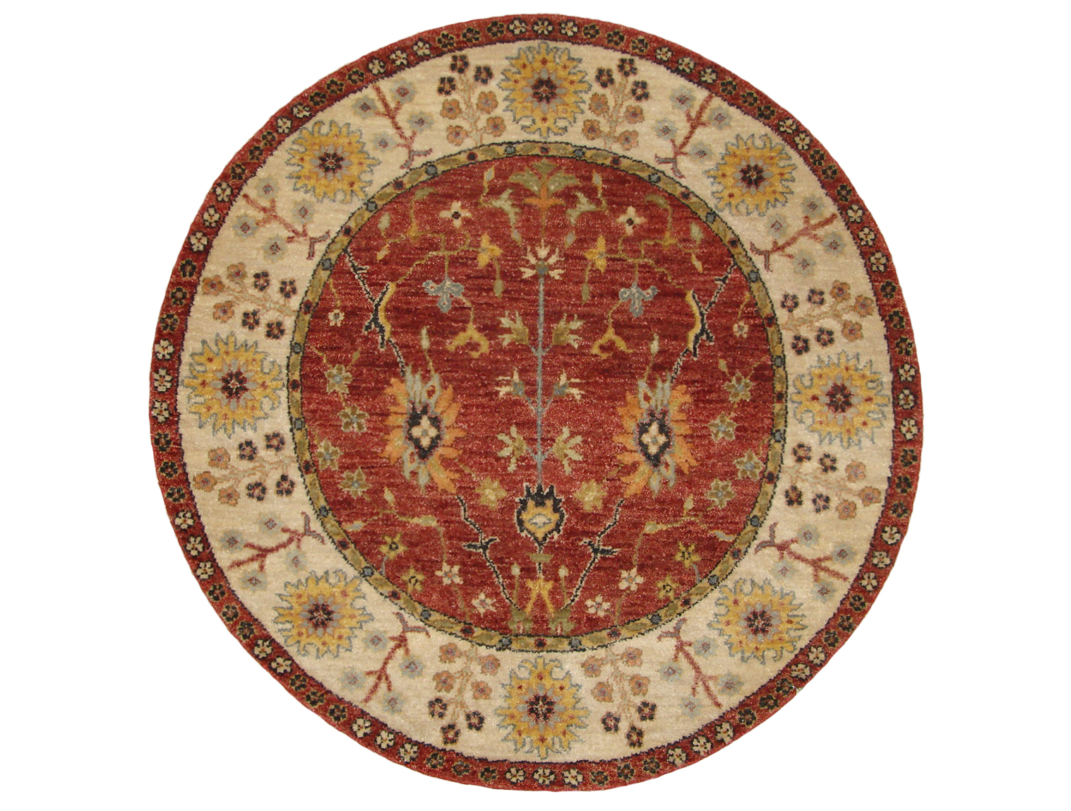 3 Round & Square Traditional Hand Knotted Wool Area Rug - MR20480