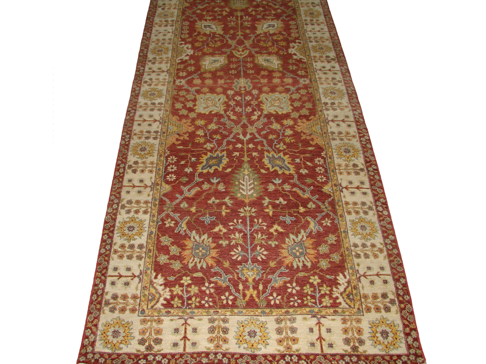 Wide Runner Traditional Hand Knotted Wool Area Rug - MR20481