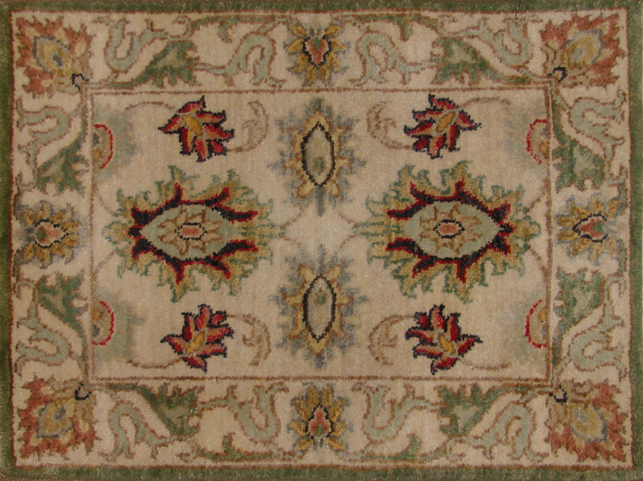 1.6X2 & SMALLER Traditional Hand Knotted Wool Area Rug - MR20552