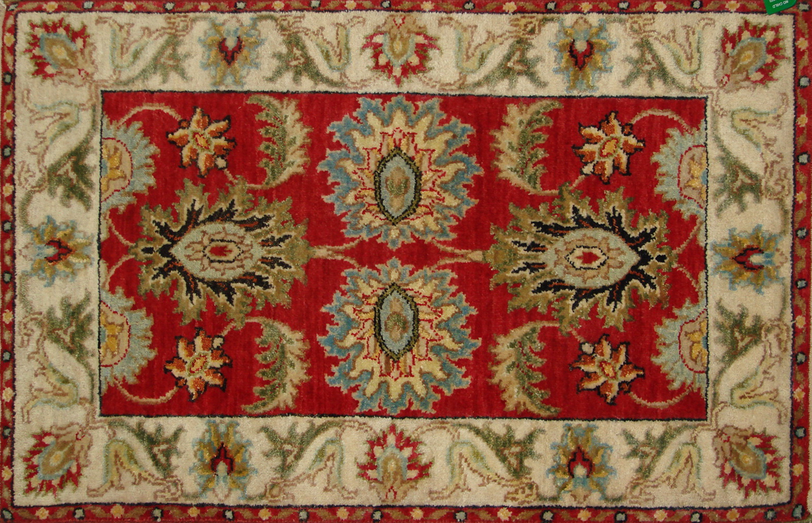2X3 Traditional Hand Knotted Wool Area Rug - MR20747