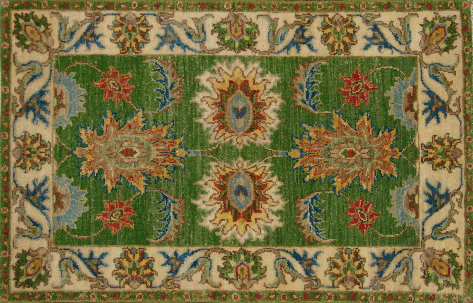2X3 Traditional Hand Knotted Wool Area Rug - MR20751