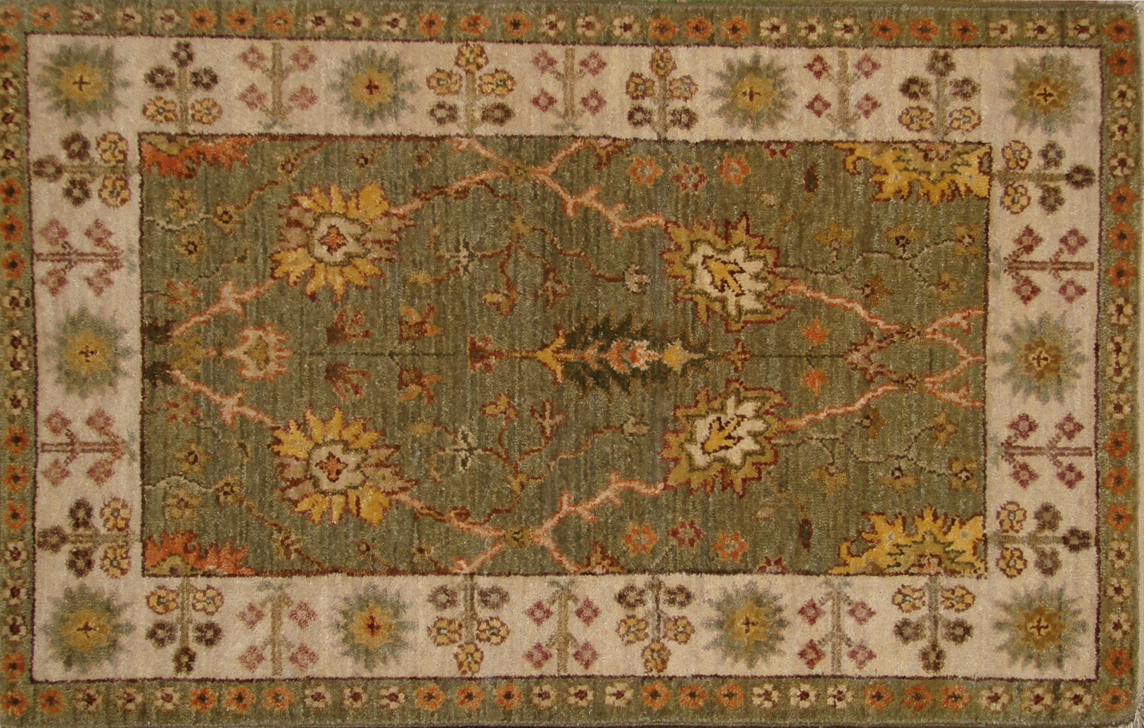 2X3 Traditional Hand Knotted Wool Area Rug - MR20754