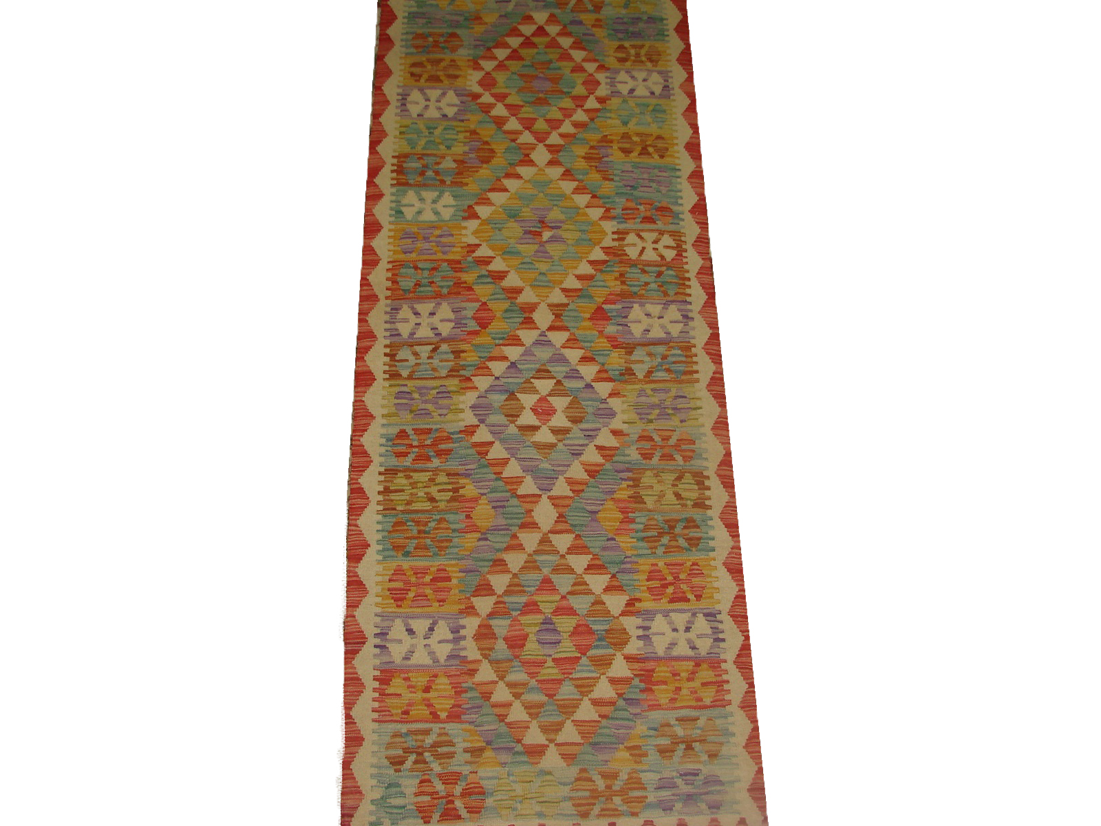 6 ft. Runner Flat Weave Hand Knotted Wool Area Rug - MR20872