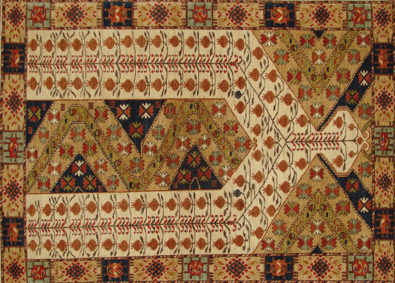 5x7/8 Antique Revival Hand Knotted Wool Area Rug - MR20897