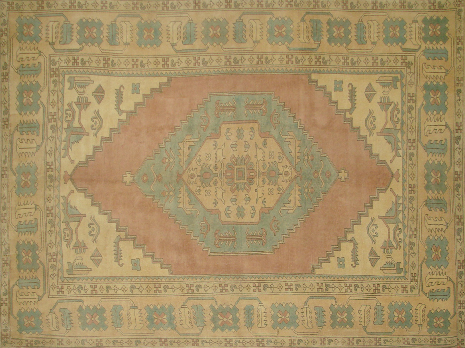 9x12 Oushak Hand Knotted Wool Area Rug - MR20912