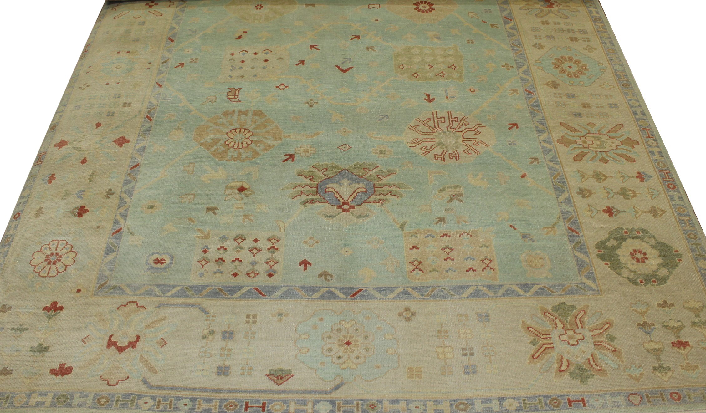 10x14 Oushak Hand Knotted Wool Area Rug - MR20929
