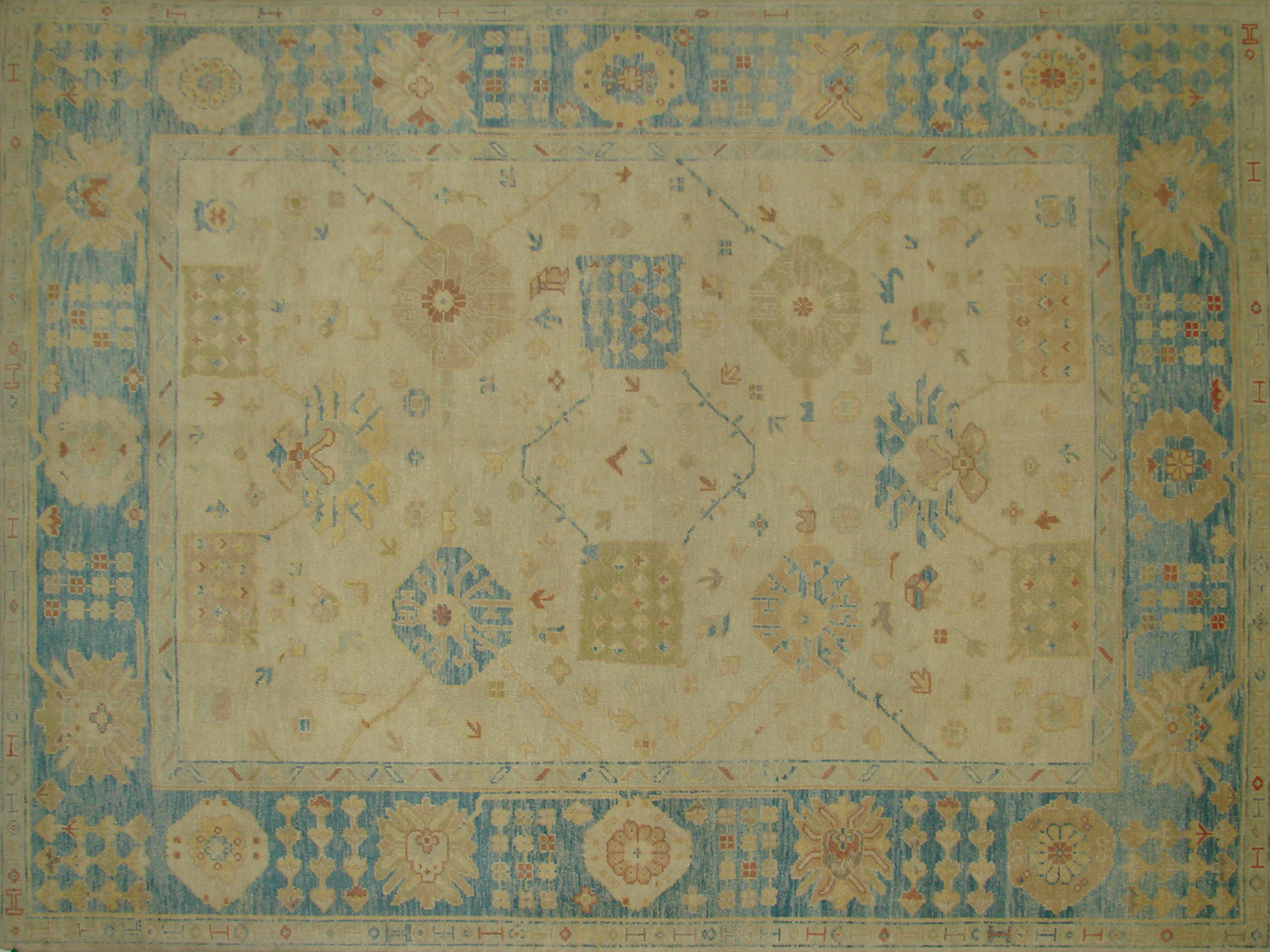 9x12 Oushak Hand Knotted Wool Area Rug - MR20933