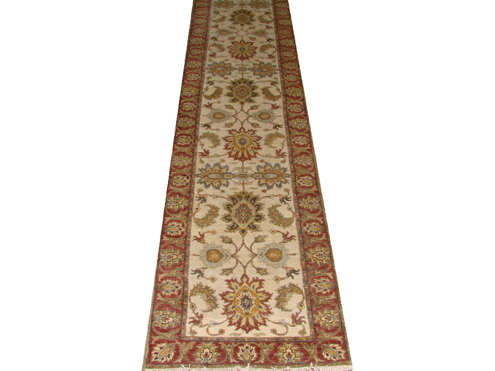 13 & Longer Runner Traditional Hand Knotted Wool Area Rug - MR20948