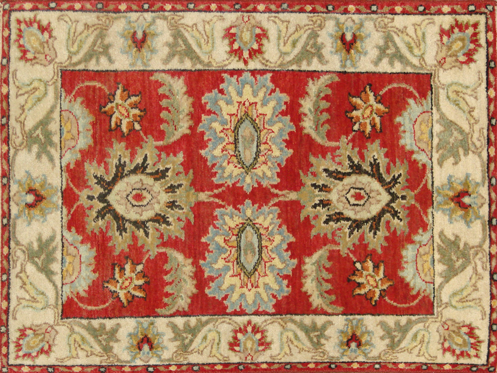 2X3 Traditional Hand Knotted Wool Area Rug - MR20972