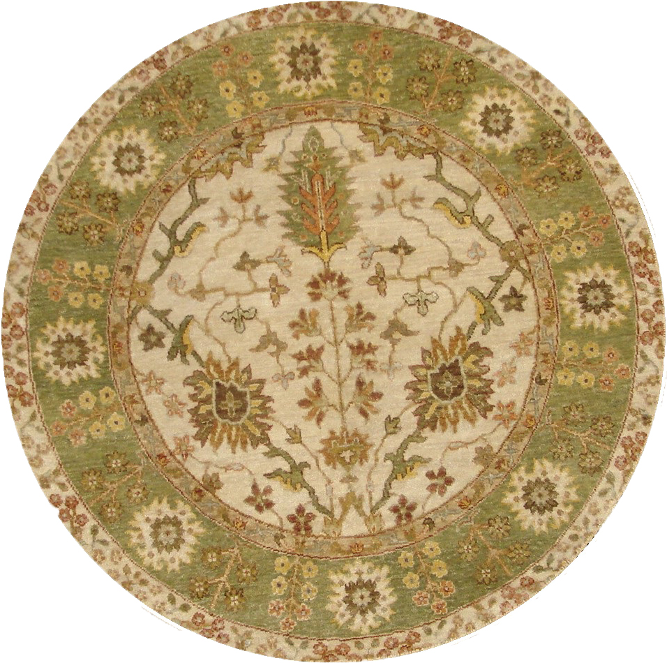 4 Round & Square Traditional Hand Knotted Wool Area Rug - MR20979