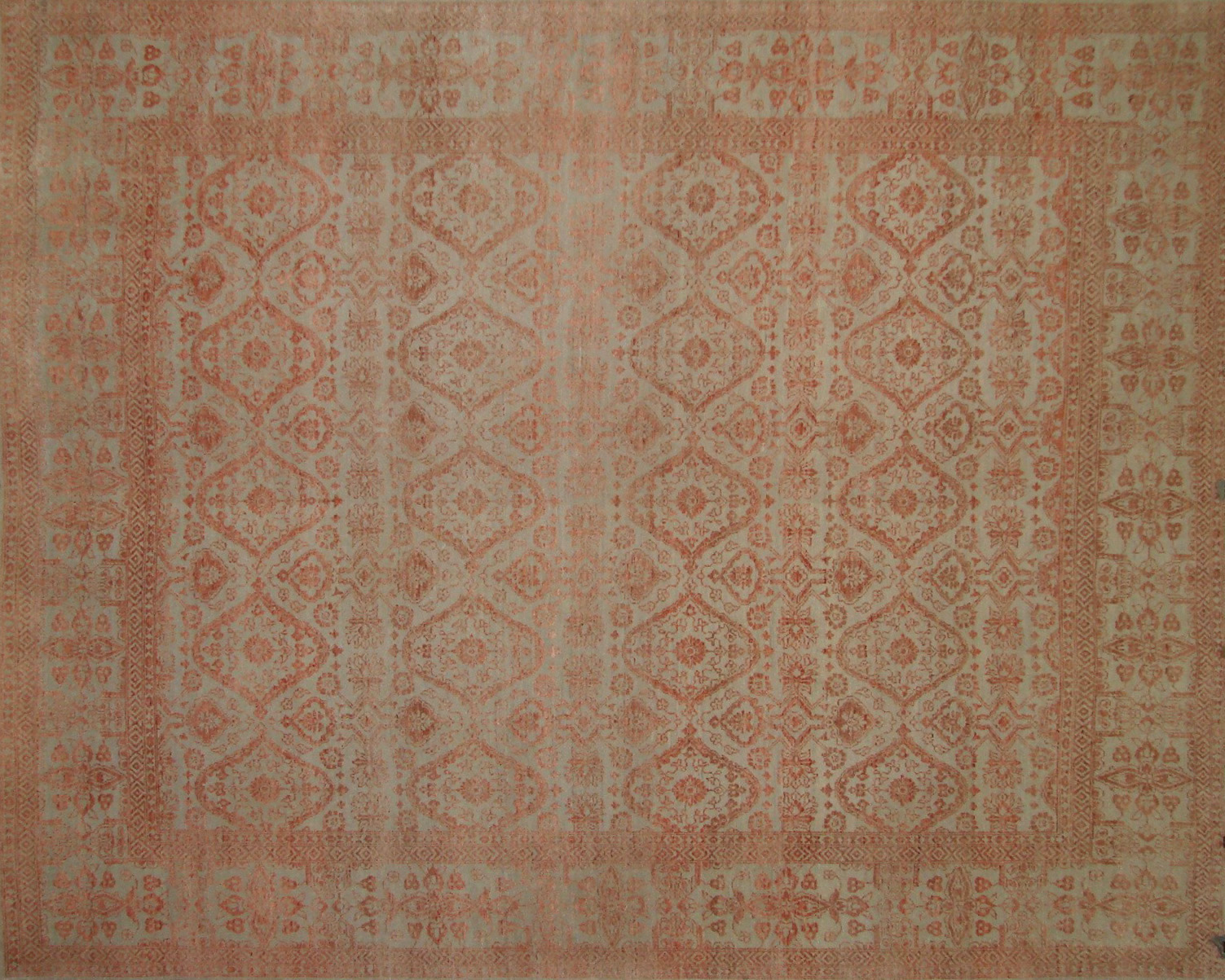 8x10 Contemporary Hand Knotted Wool Area Rug - MR20991