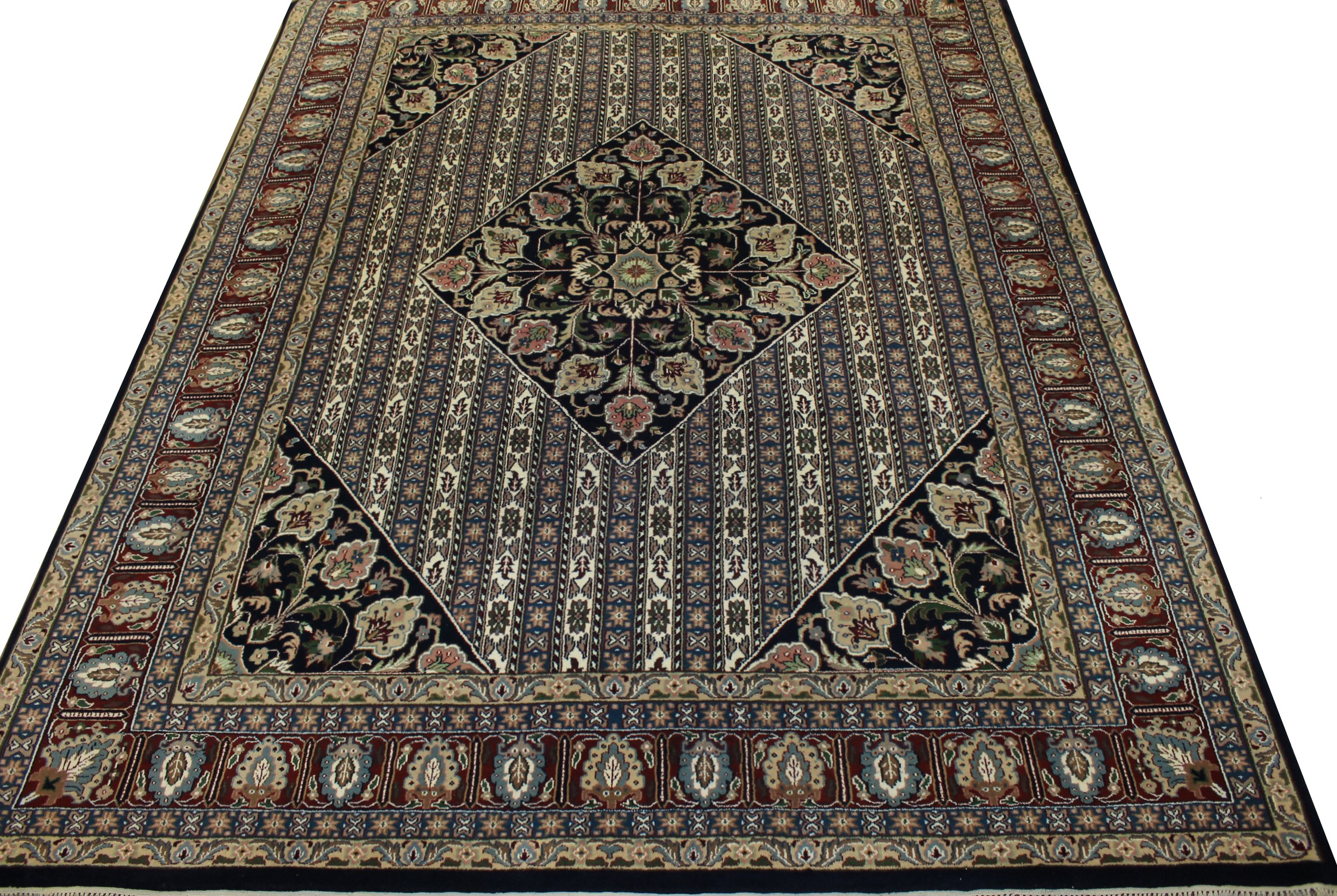 8x10 Traditional Hand Knotted Wool Area Rug - MR21010