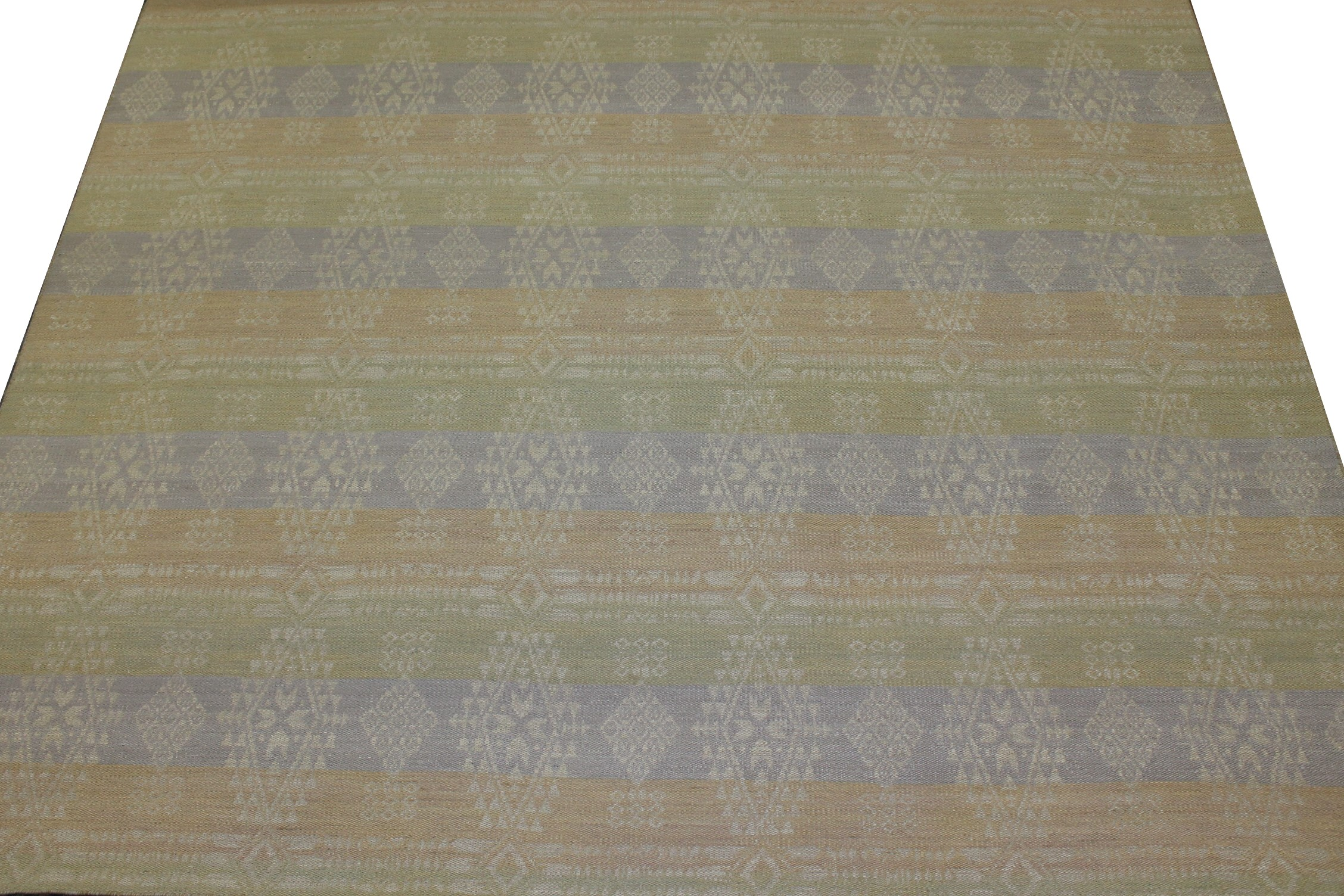 10x14 Flat Weave Hand Knotted Wool Area Rug - MR21014