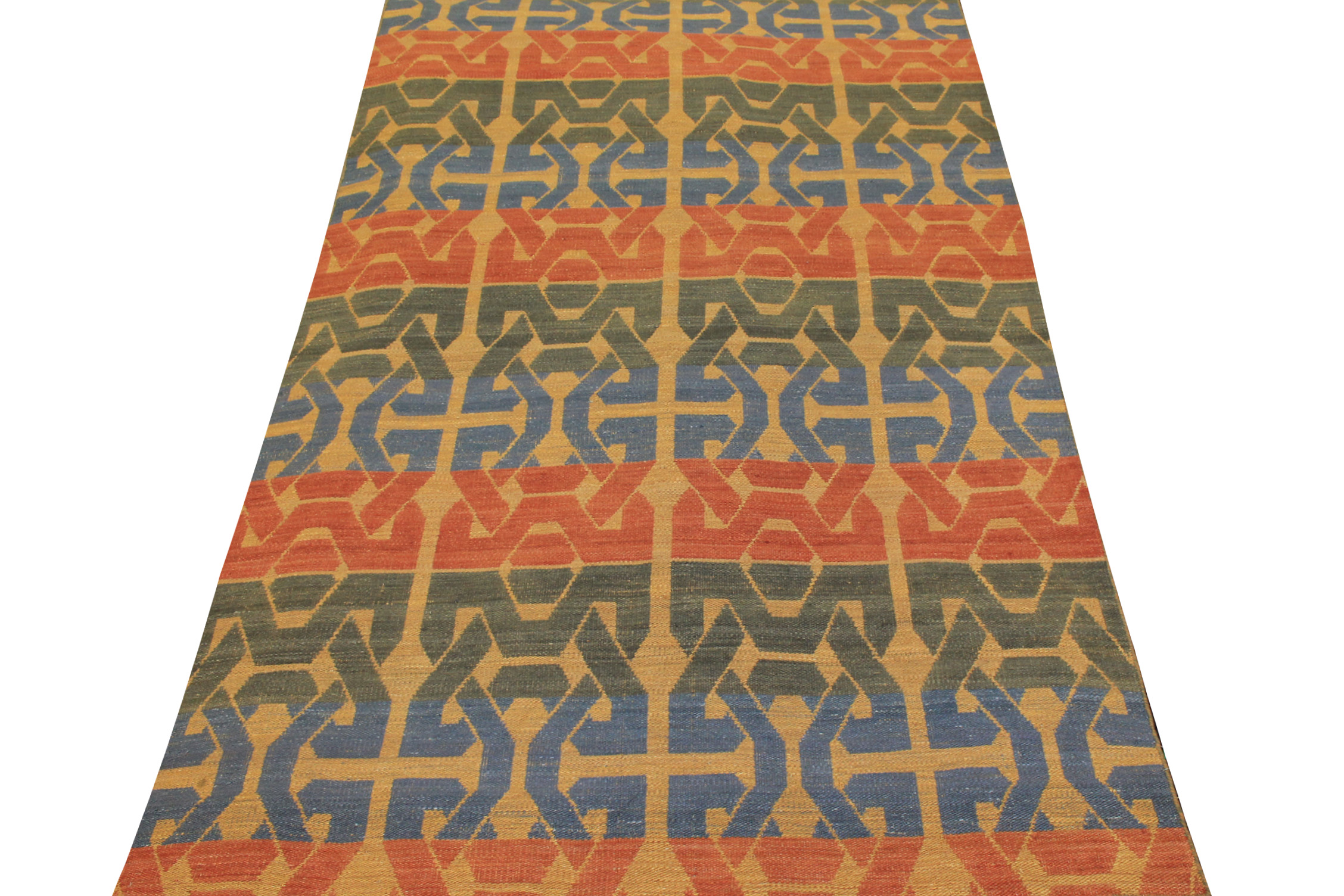 6x9 Flat Weave Hand Knotted Wool Area Rug - MR21026