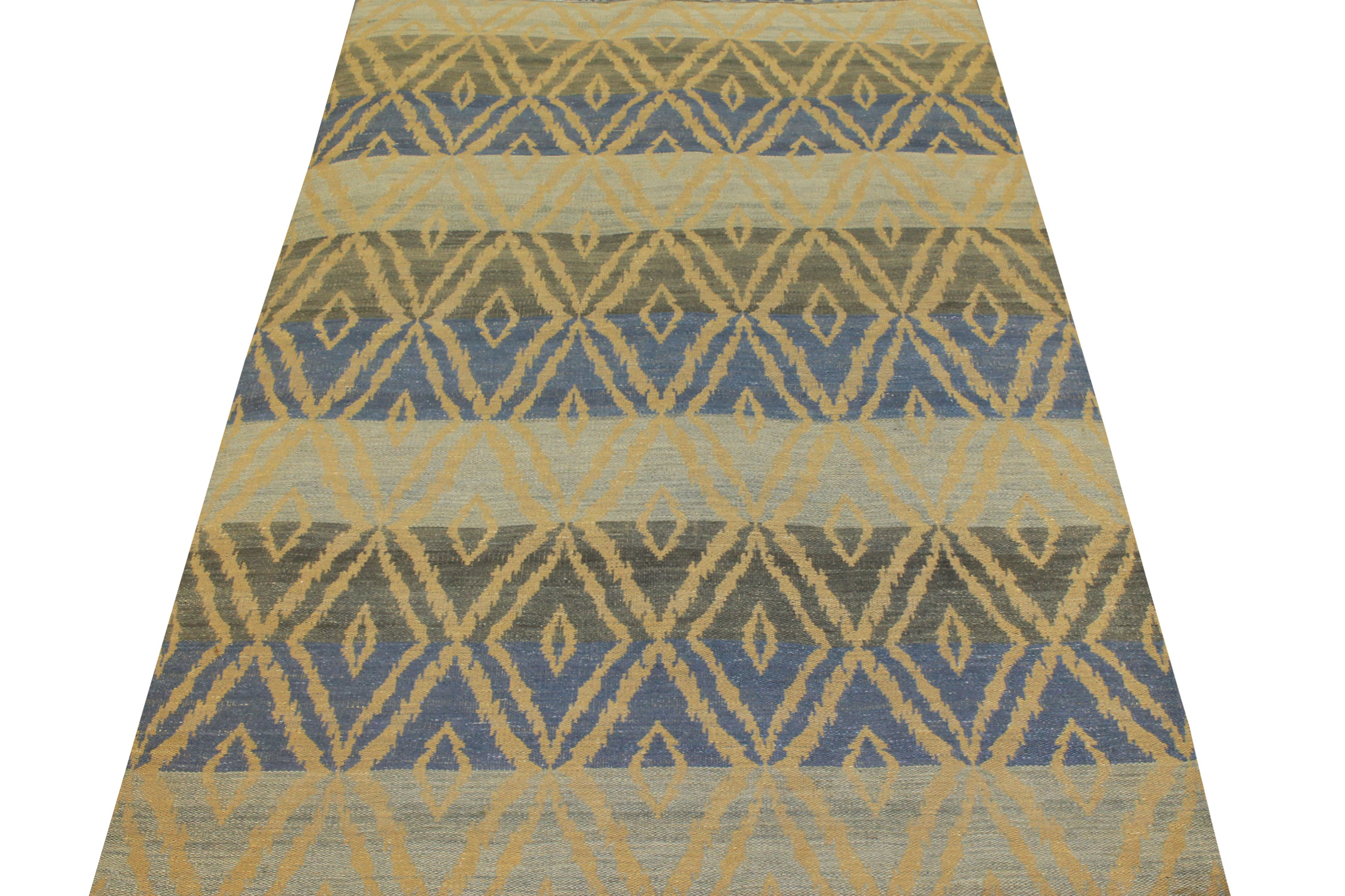 6x9 Flat Weave Hand Knotted Wool Area Rug - MR21027
