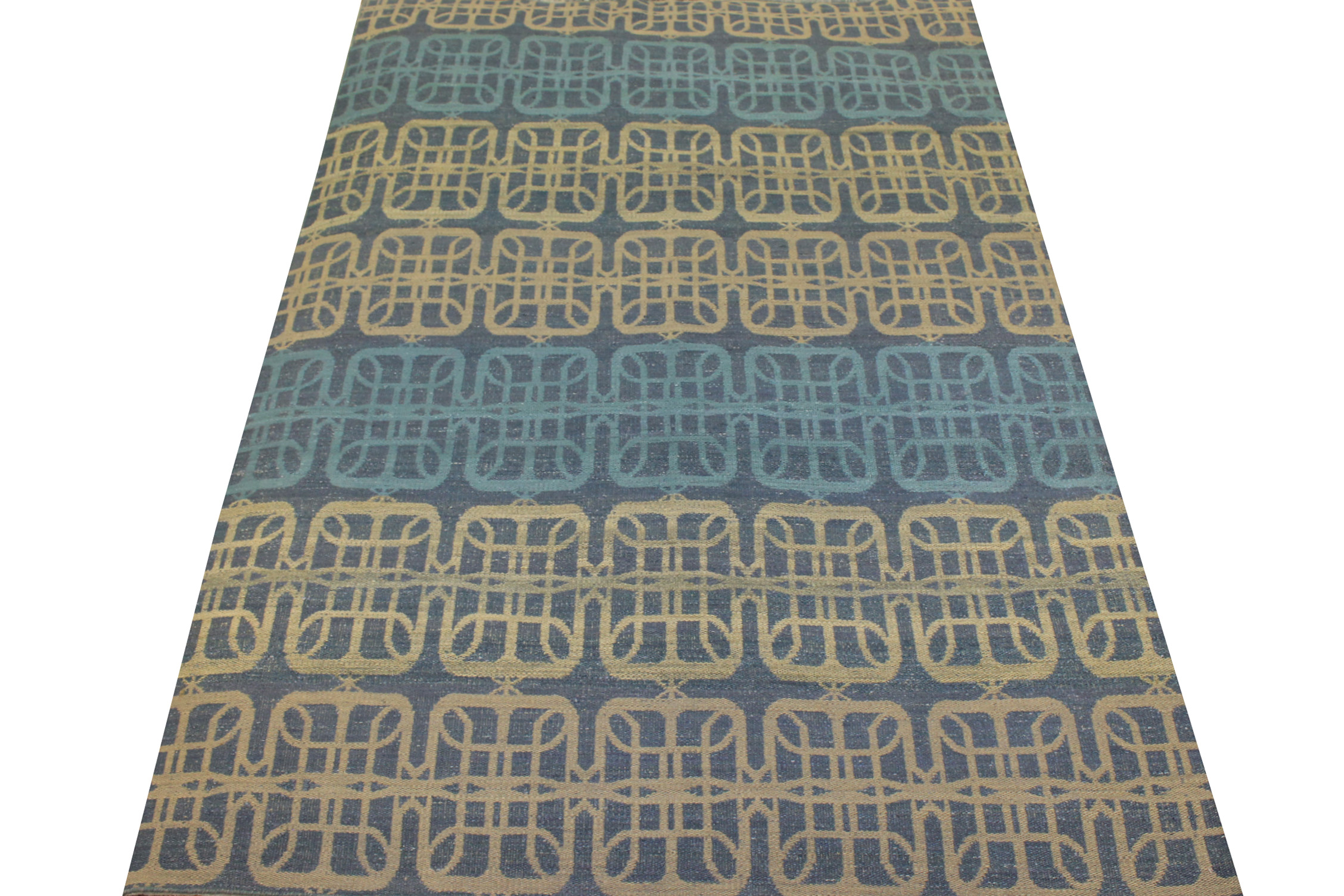 6x9 Flat Weave Hand Knotted Wool Area Rug - MR21030