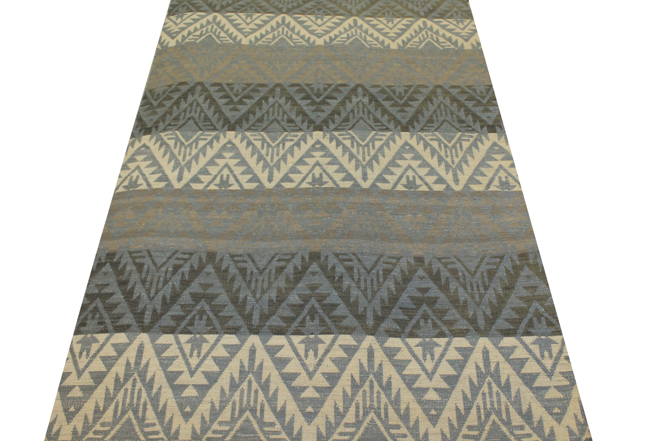6x9 Flat Weave Hand Knotted Wool Area Rug - MR21037