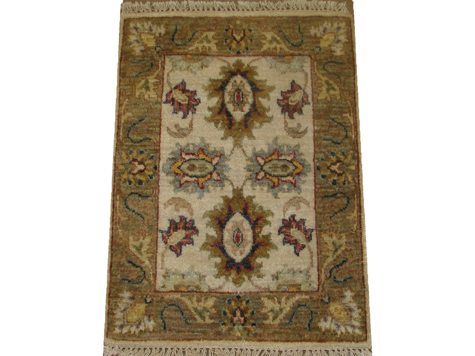 1.6X2 & SMALLER Traditional Hand Knotted Wool Area Rug - MR21099