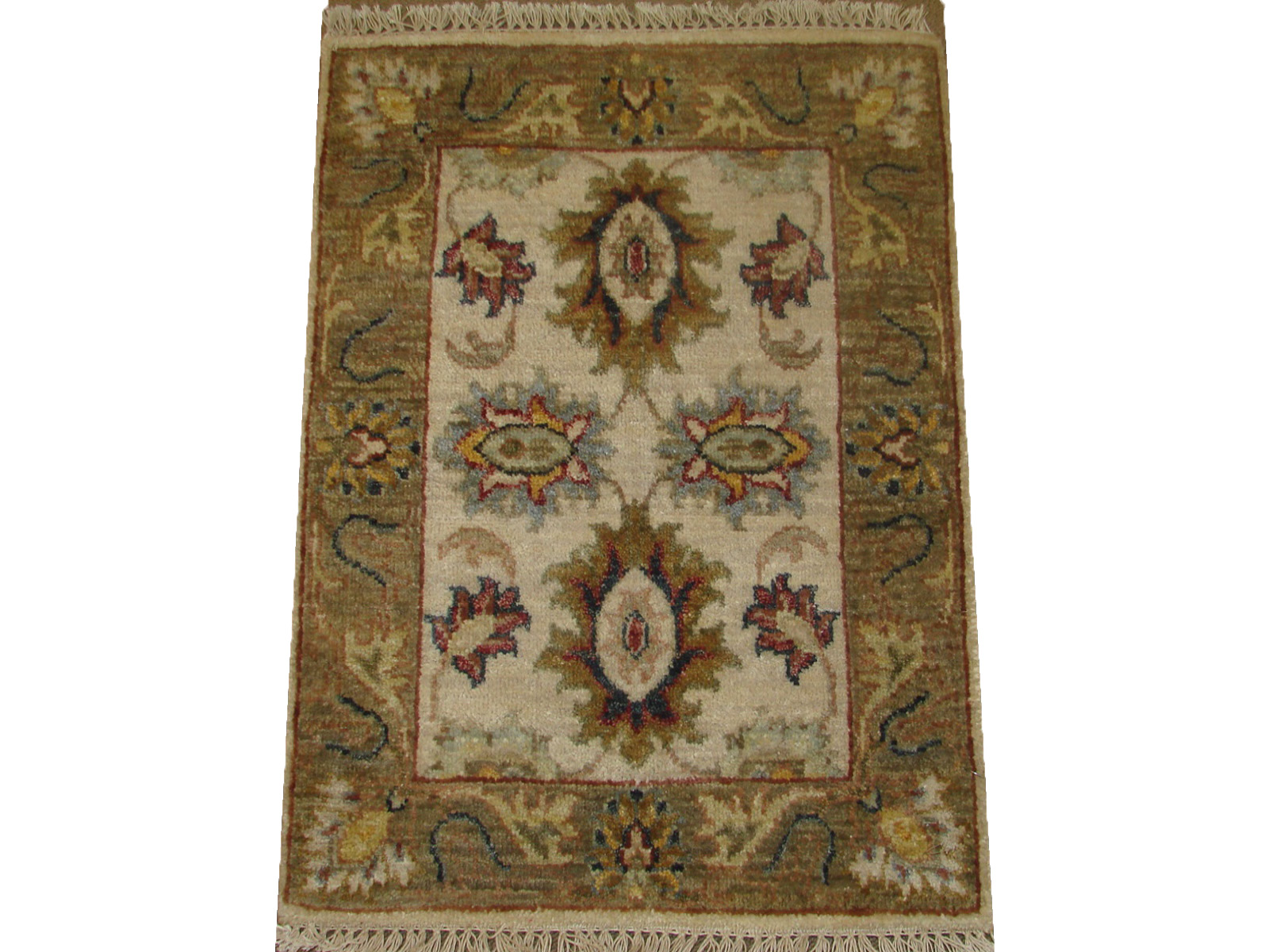 1.6X2 & SMALLER Traditional Hand Knotted Wool Area Rug - MR21102