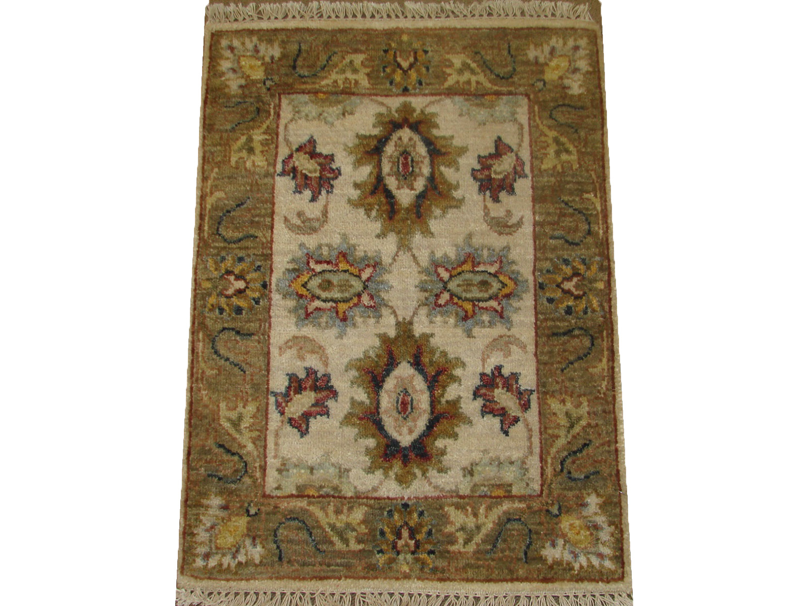1.6X2 & SMALLER Traditional Hand Knotted Wool Area Rug - MR21104