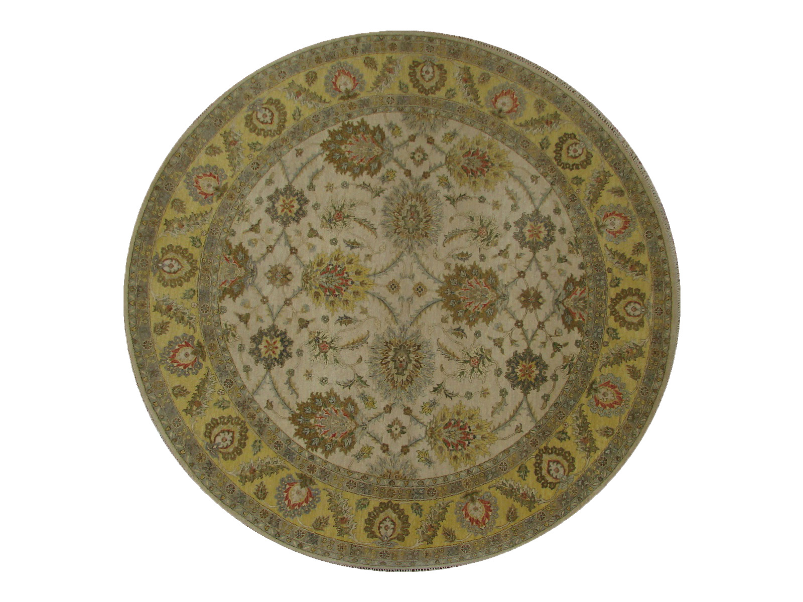 8 Round & Square Traditional Hand Knotted Wool Area Rug - MR21111