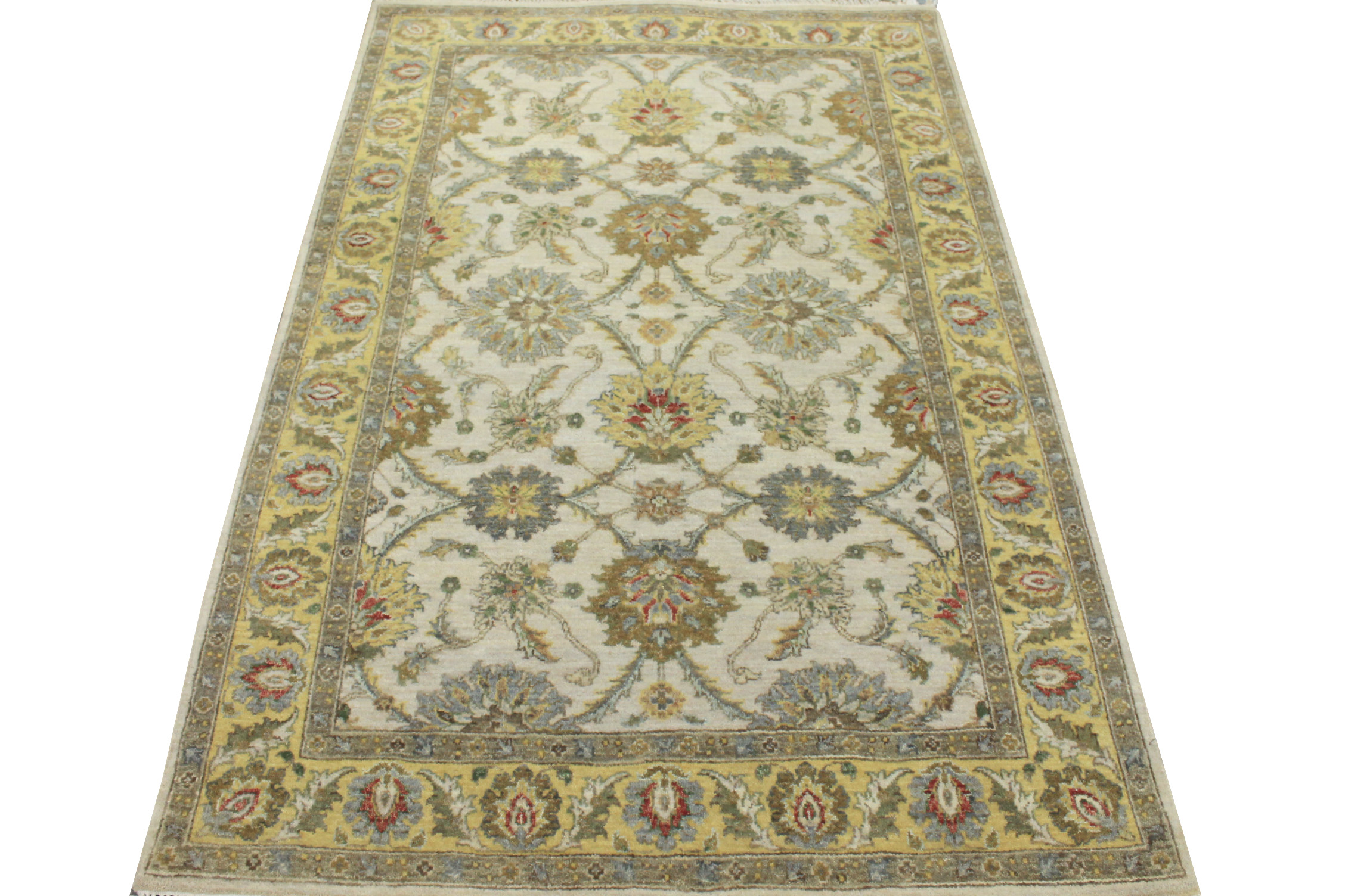 4x6 Traditional Hand Knotted Wool Area Rug - MR21127