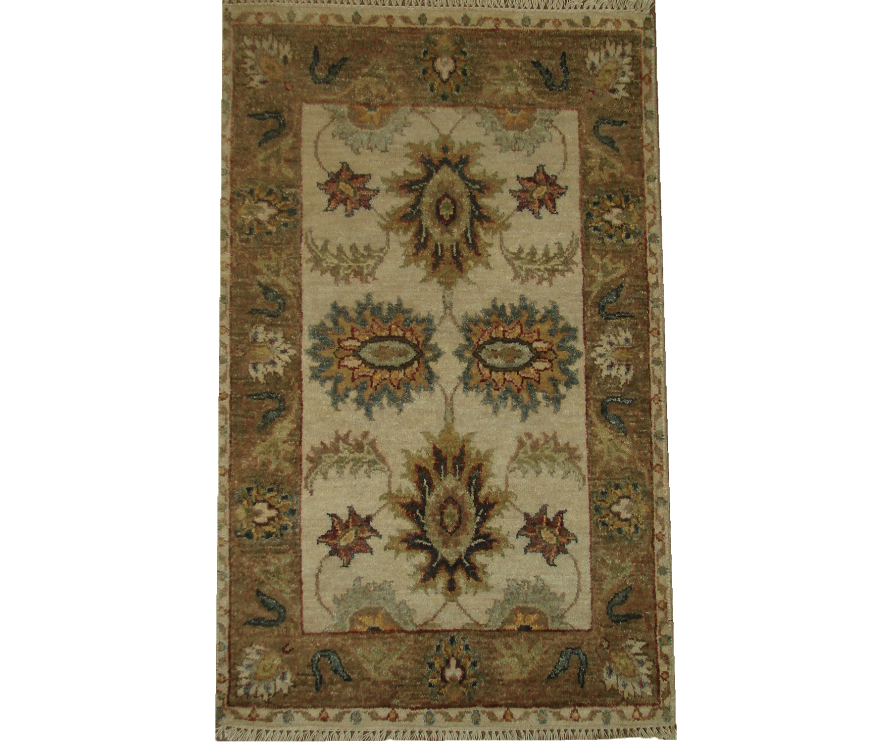 2X3 Traditional Hand Knotted Wool Area Rug - MR21138