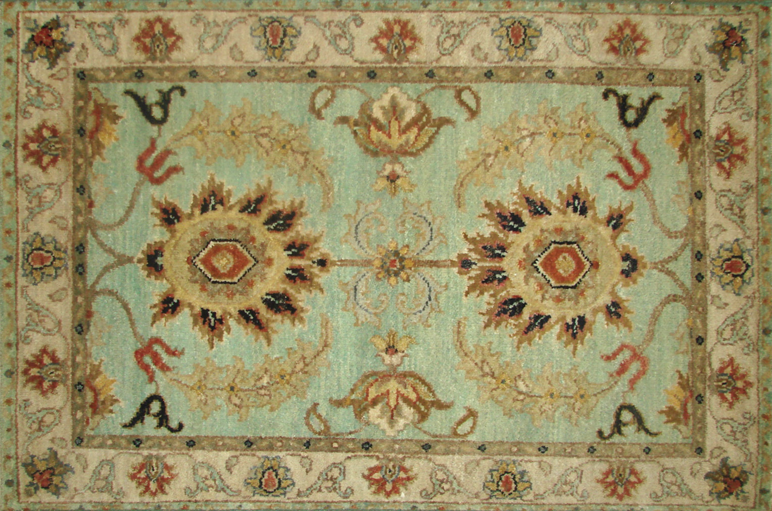 2X3 Traditional Hand Knotted Wool Area Rug - MR21210