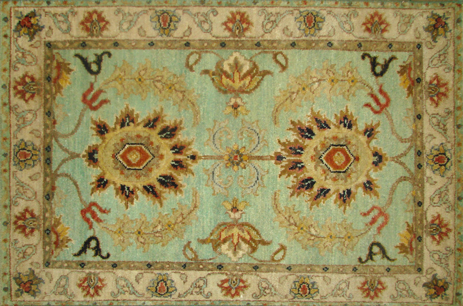 2X3 Traditional Hand Knotted Wool Area Rug - MR21212