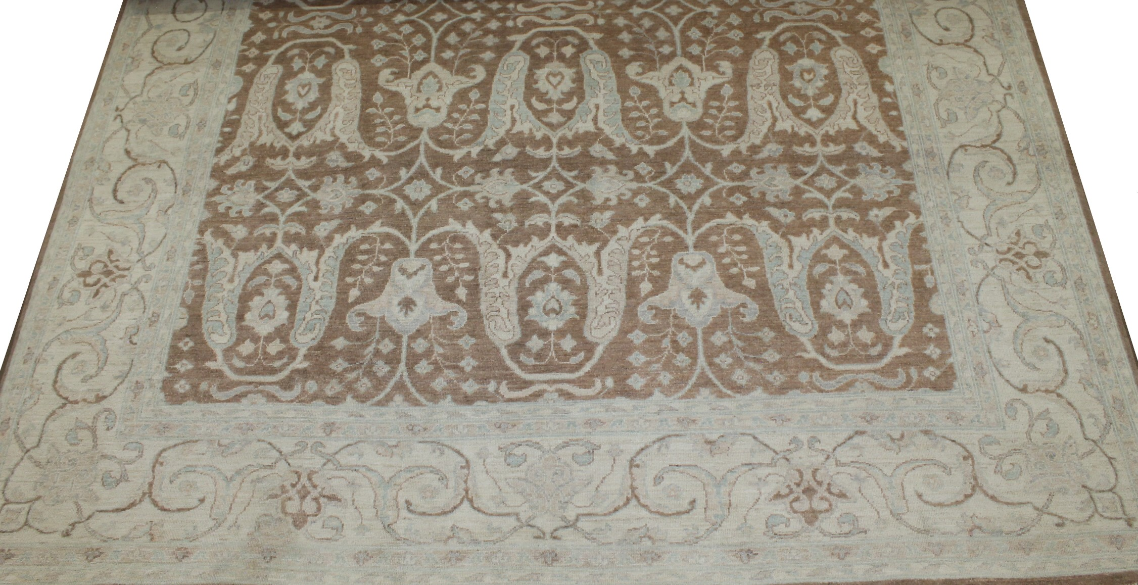 8x10 Peshawar Hand Knotted Wool Area Rug - MR21271
