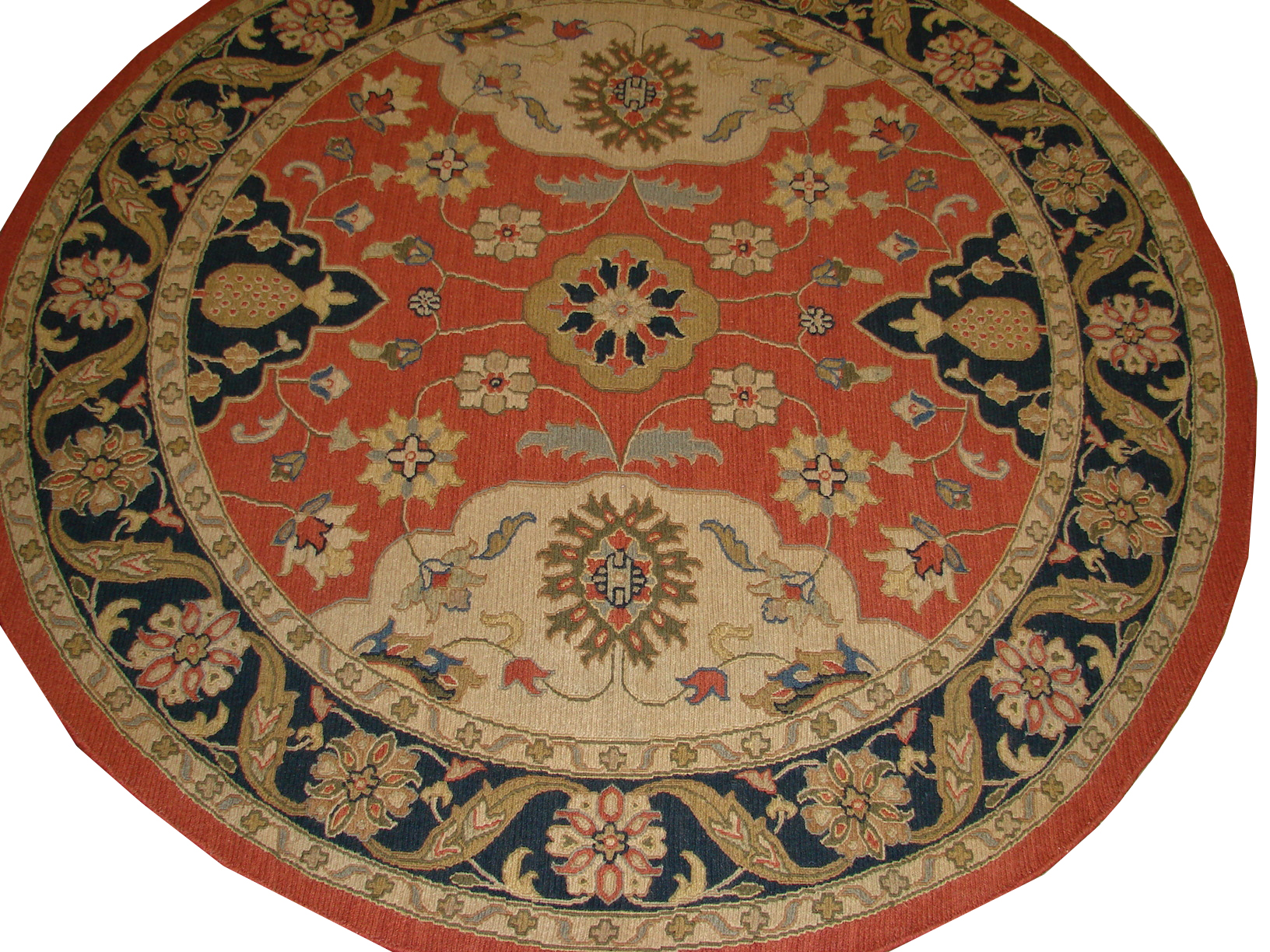 6 - 7 Round & Square Flat Weave Hand Knotted Wool Area Rug - MR2789