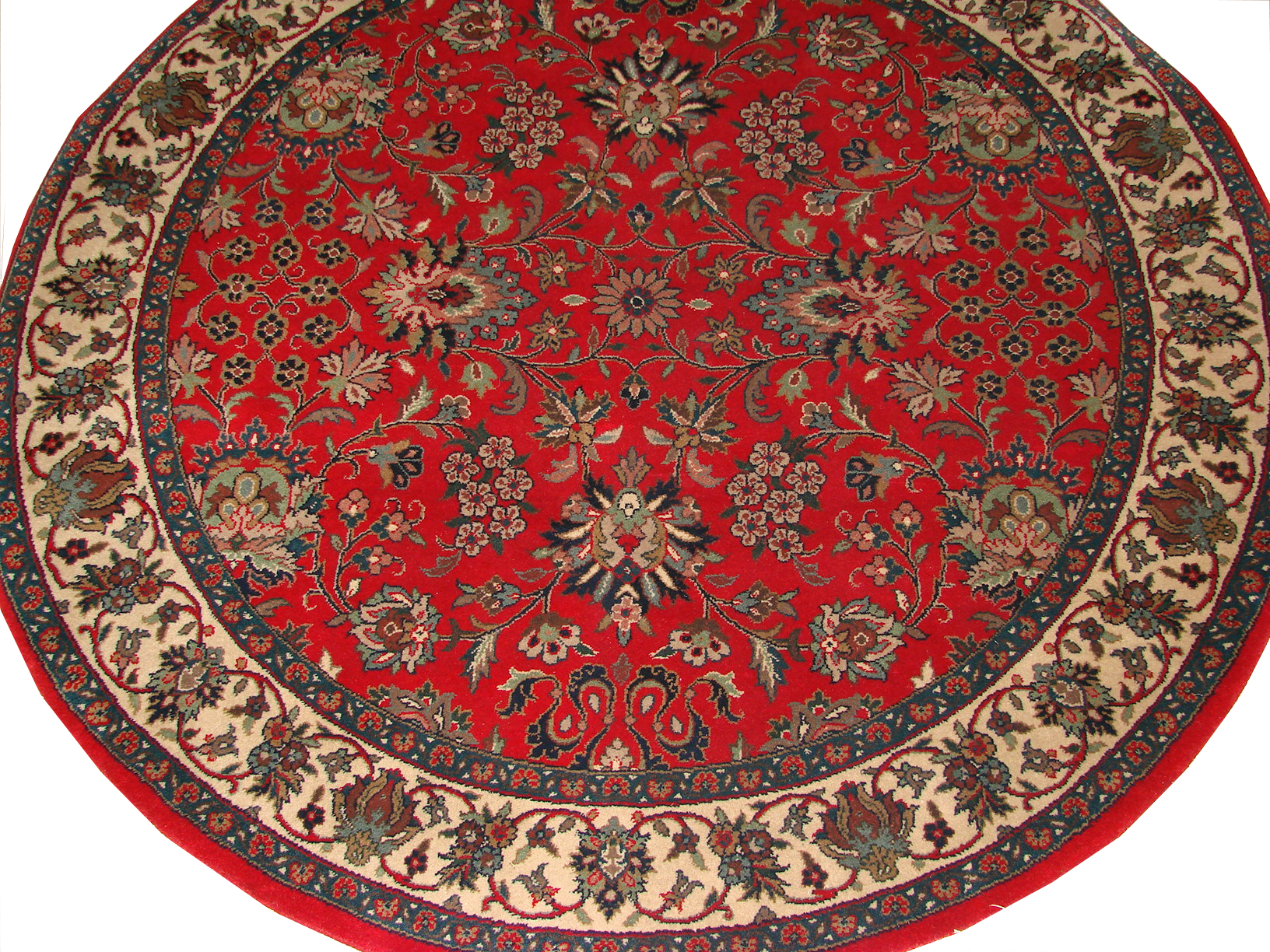 5 Round & Square Traditional Hand Knotted Wool Area Rug - MR4072